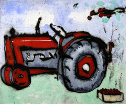 Harvest - Limited Edition drypoint and watercolour fine art print by artist Richard Spare