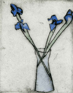 Iris (1985) - Limited Edition drypoint and watercolour fine art print by artist Richard Spare