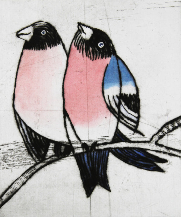 Love Song - Limited Edition drypoint and watercolour fine art print by artist Richard Spare