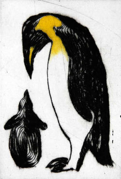 New Arrival - Limited Edition drypoint and watercolour fine art print by artist Richard Spare
