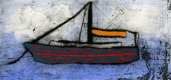 Orange Sail - Limited Edition drypoint and watercolour fine art print by artist Richard Spare