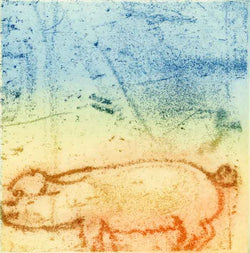 Petite Sow - Limited Edition softground etching fine art print by artist Richard Spare