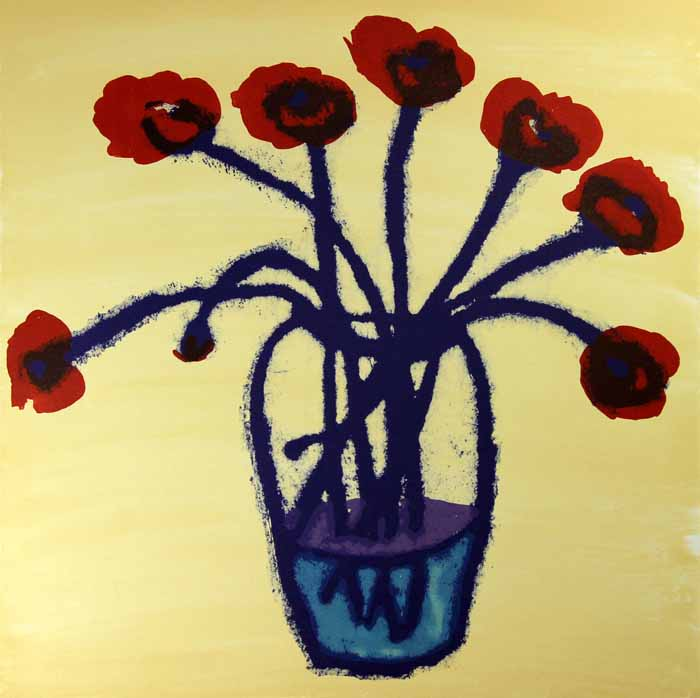 Poppies in Bloom - Limited Edition lithograph fine art print by artist Richard Spare