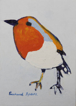 Robin - Original oil on board painting by artist Richard Spare