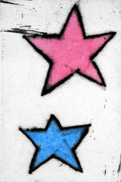 Shooting Star II - Limited Edition drypoint and watercolour fine art print by artist Richard Spare