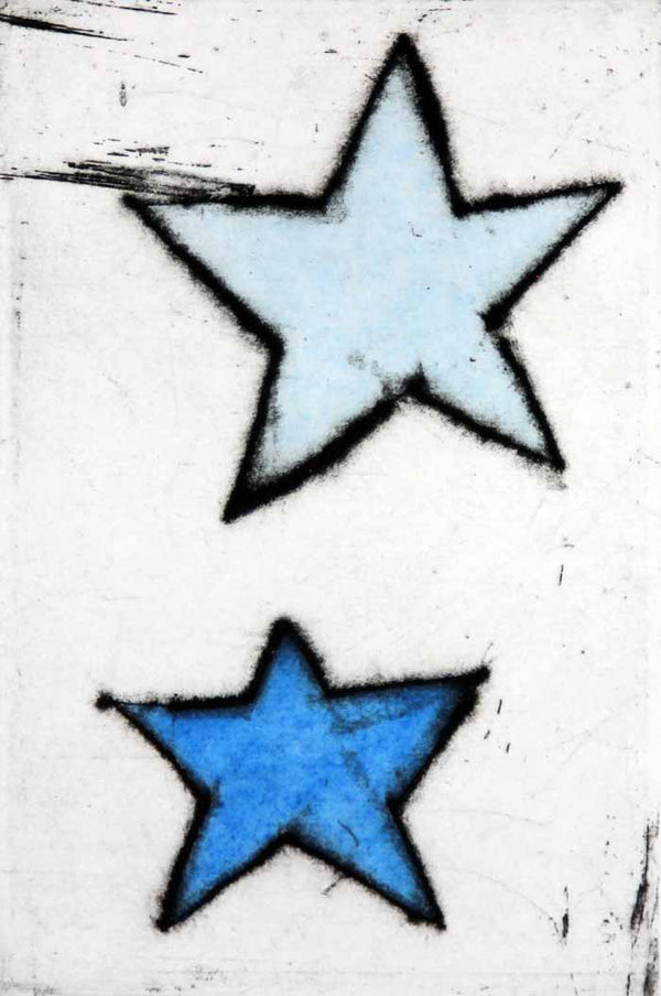 Shooting Star III - Limited Edition drypoint and watercolour fine art print by artist Richard Spare