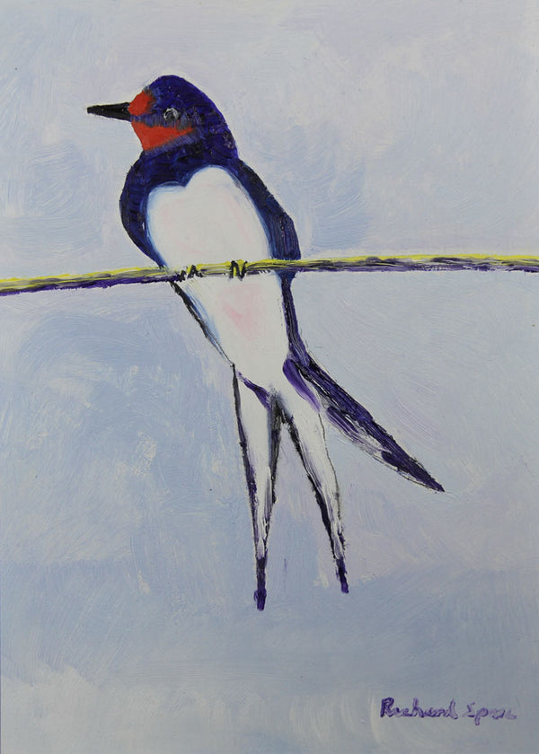 Summer Swallow - Original oil on board painting by artist Richard Spare