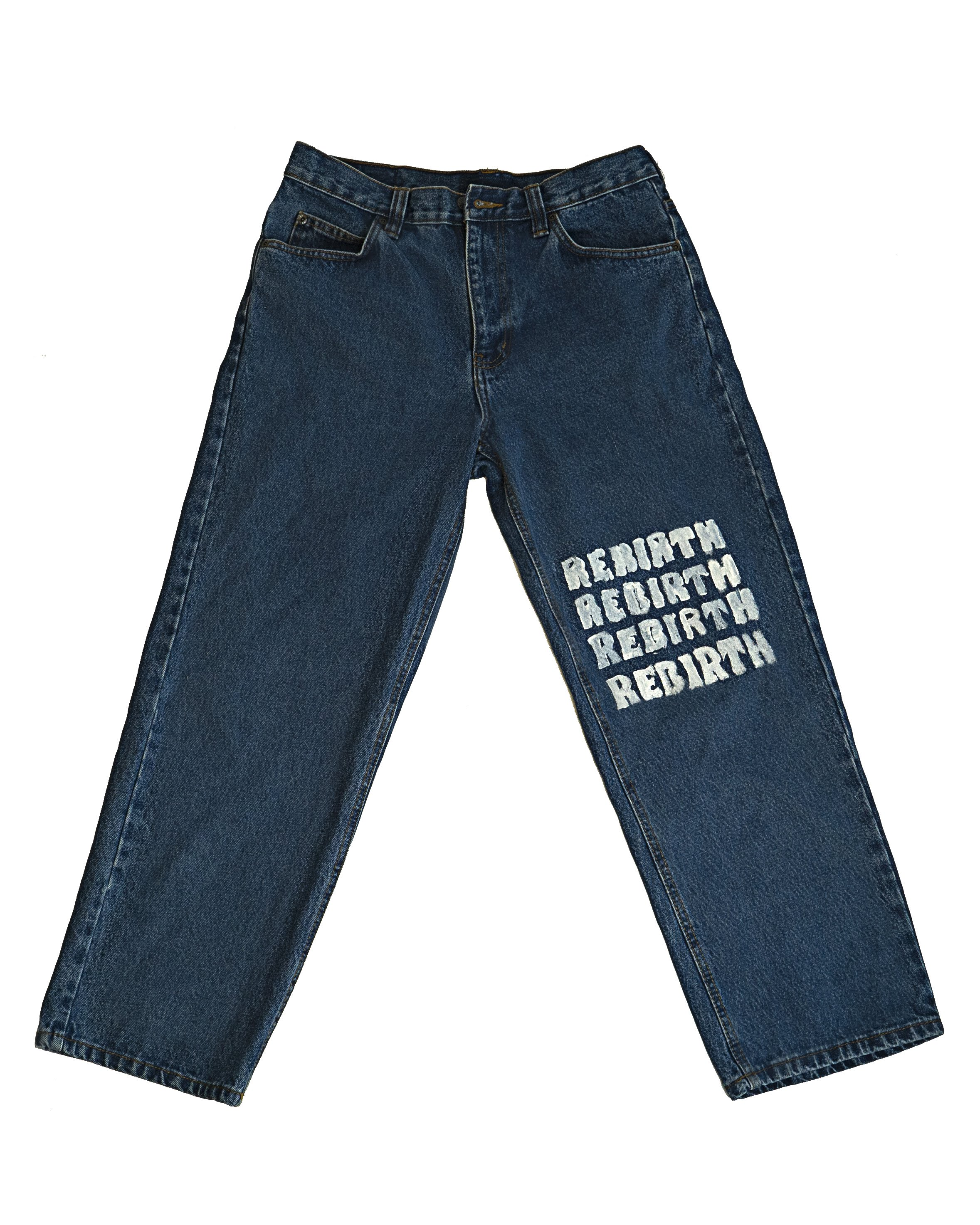 Rebirth Custom Hand Painted Denim Jeans