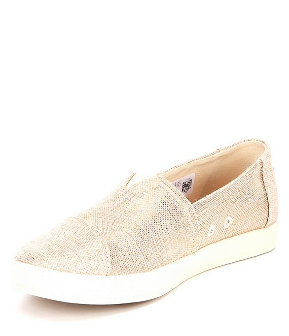 Women's Avalon Woven Metallic Slip Ons - Rose Gold
