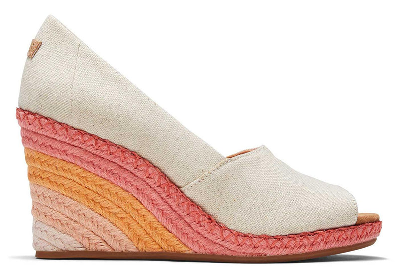 Natural Sunrise Michelle Peep Toe Wedge