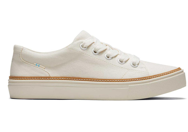 White Leather Alex Lace Up