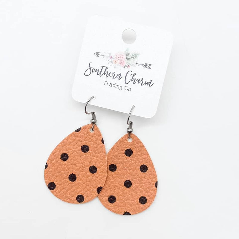 Southern Charm - Orange & Black Polka Dot