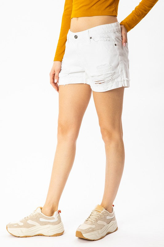Kancan Levy Mid Rise Shorts