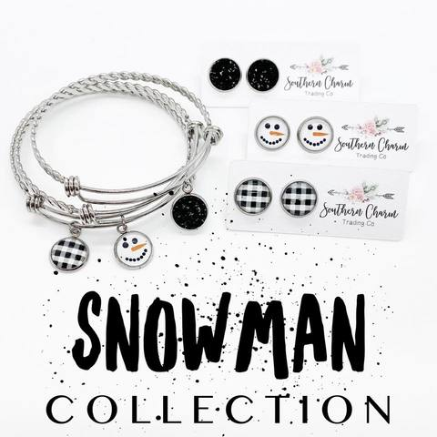 Snowman Collection - Matching Bracelet & Earrings