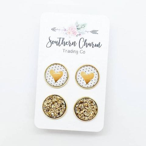 Southern Charm - Gold Hearts & Gold Duo