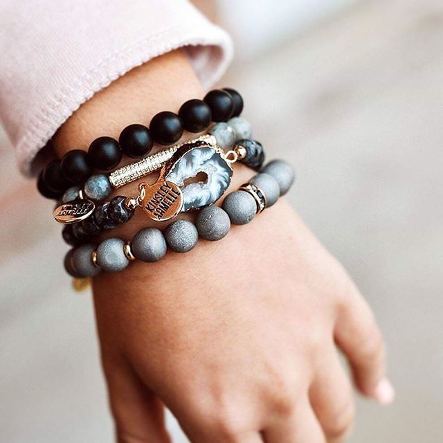 Kinsley Armelle - Eternity Collection - Coal Bracelet (L/XL)