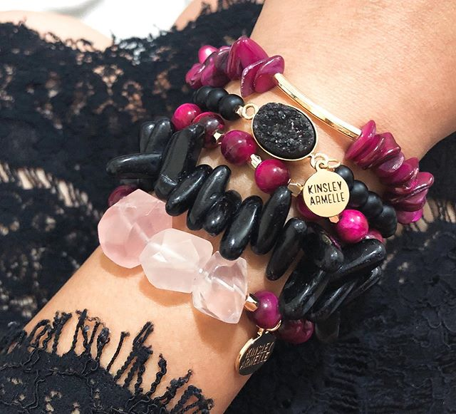 Kinsley Armelle - Farrah Collection - Raspberry Wine Bracelet (L/XL)