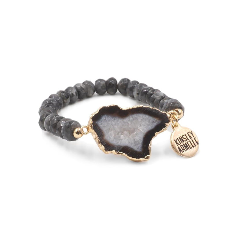Kinsley Armelle - Agate Collection - Smoky Bracelet (L/XL)