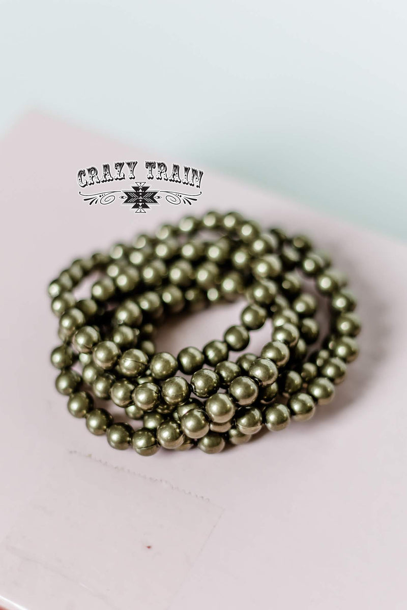 Crazy Train - Army Green Bracelet
