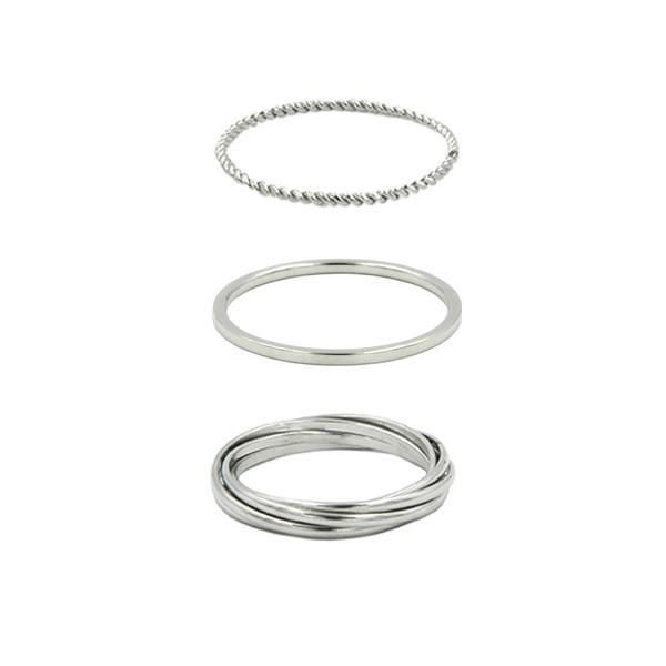 Kinsley Armelle - Goddess Collection - Silver Ring Set