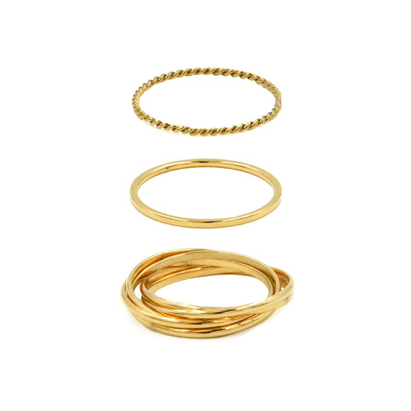 Kinsley Armelle - Goddess Collection - Gold Ring Set