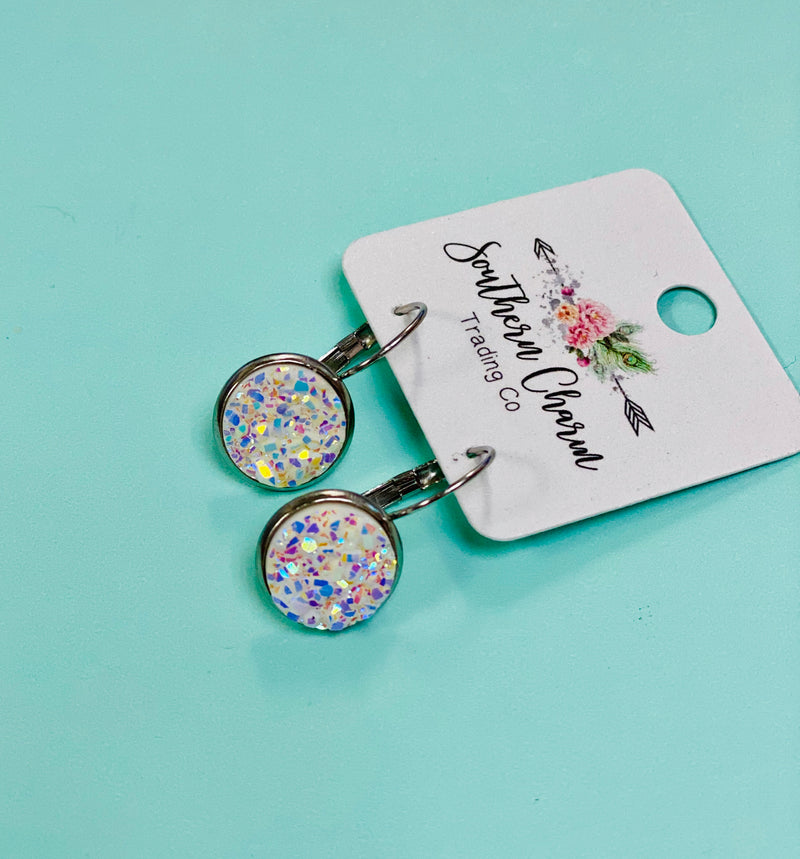 Southern Charm - 12MM Round Druzy Dangle