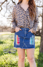 Crazy Train -  Lollipop Skirt - Serape