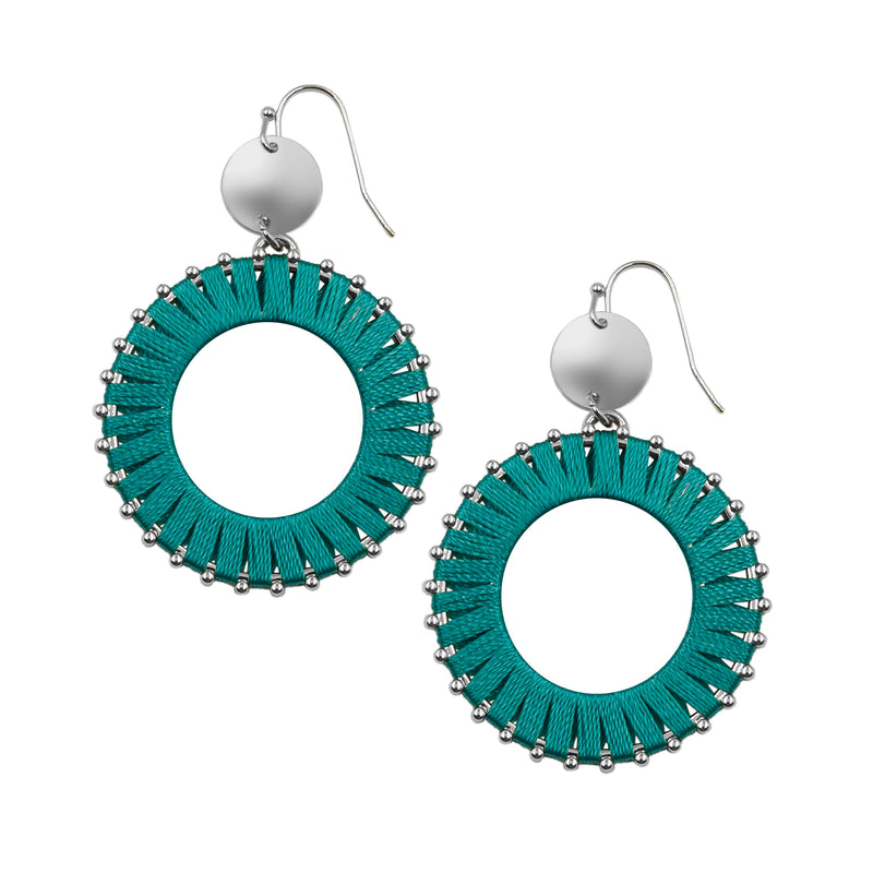 Kinsley Armelle - Pinnie Collection - Silver Mayan Earrings