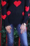Heart On My Sleeve Distressed Sweater