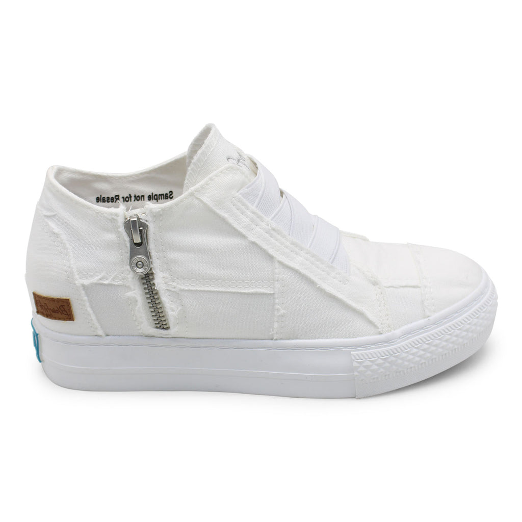 Blowfish - Mamba Sneaker - White Color Washed Canvas