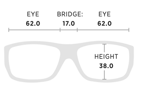 Maui Jim Barrier Reef Measurement Dimensions