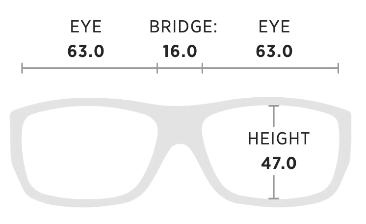 Maui Jim Breezeway Measurement Dimensions