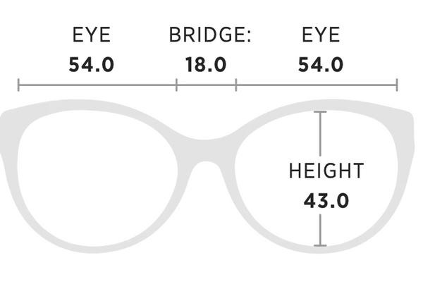 Maui Jim Canna Measurement Dimensions