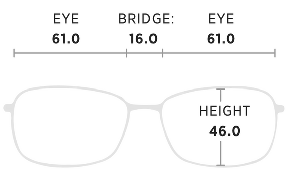 Maui Jim Castles Measurement Dimensions