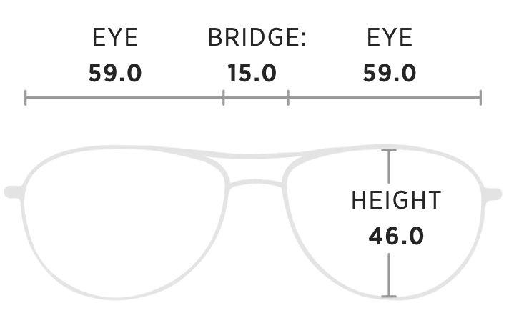 Maui Jim Cliff House Measurement Dimensions