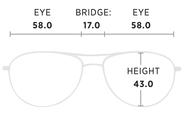 Maui Jim Guardrails Measurement Dimensions