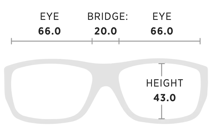 Maui Jim Haleakala Measurement Dimensions