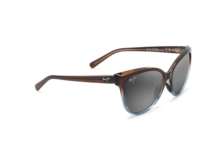 Maui Jim - Olu Olu - Translucent Dark Chocolate with Blue / Neutral Grey