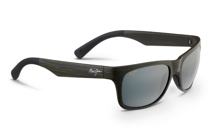Maui Jim - Kahi - Matte Aquamarine Wood Grain / Neutral Grey