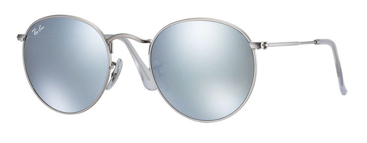 Ray-Ban - Round Metal RB3447 Rx - Silver / 50 Standard