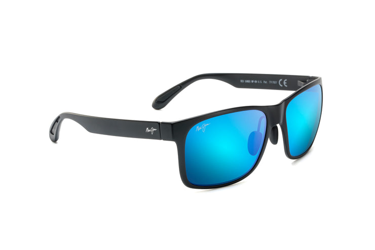 Maui Jim - Red Sands - Matte Black / Blue Hawaii