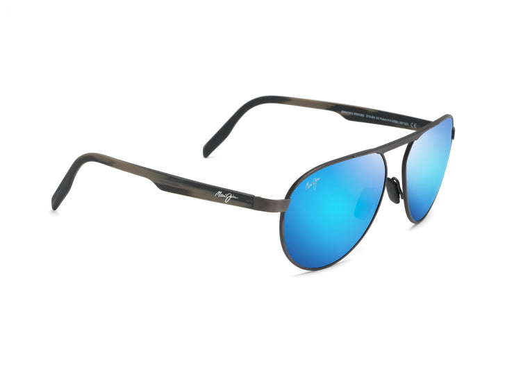 Maui Jim - Swinging Bridges - Brushed Dark Gunmetal / Blue Hawaii
