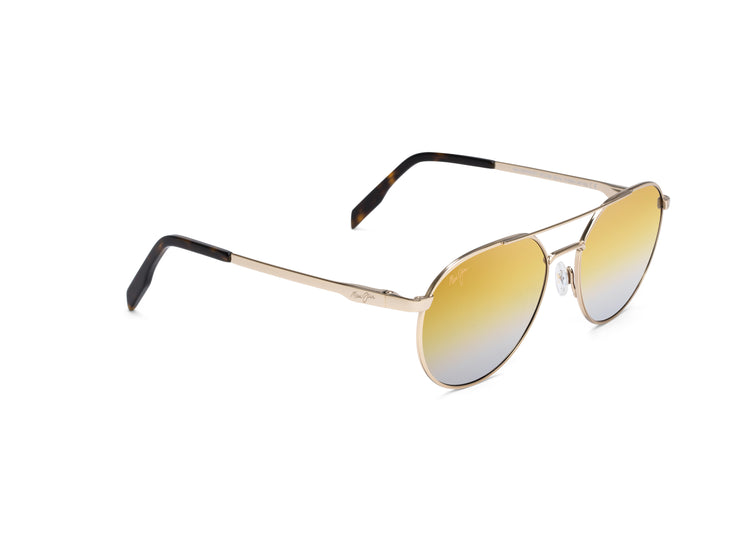 Maui Jim - Waterfront - Gold Metal / Dual Mirror (Gold to Silver over HCL Bronze)