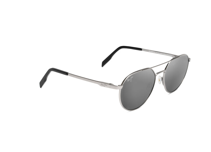 Maui Jim - Waterfront - Grey Metal / Dual Mirror (Silver to Black over Neutral Grey)