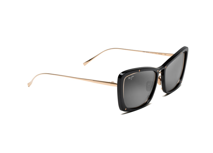 Maui Jim - Adrift - Black Gloss + Shiny Gold / Neutral Grey