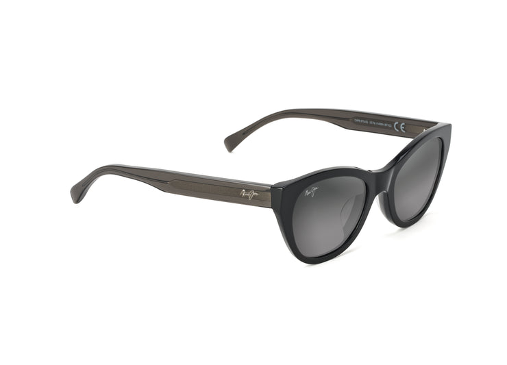 Maui Jim - Capri - Black with Transparent Dark Grey temples / Neutral Grey