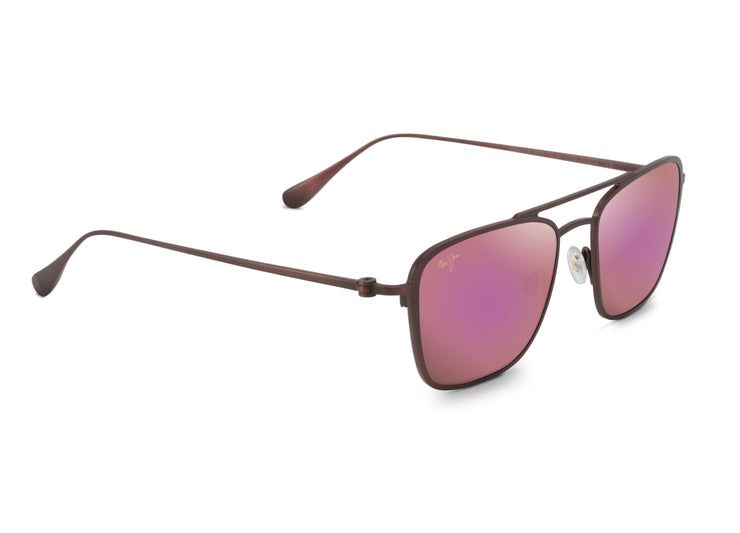 Maui Jim - Ebb & Flow - Matte Brushed Burgundy / Maui Sunrise