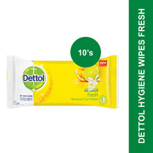 Load image into Gallery viewer, Dettol Hygiene Wipes Fresh-10's