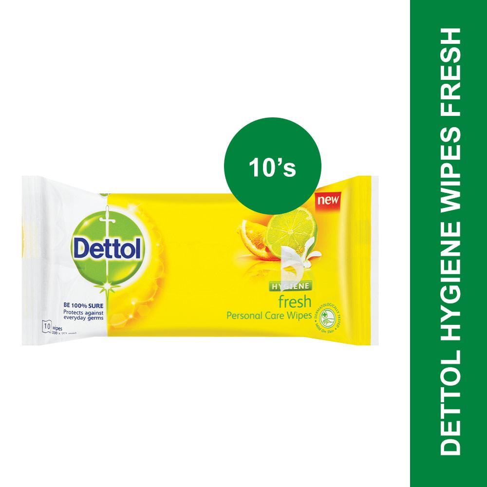 Dettol Hygiene Wipes Fresh-10's