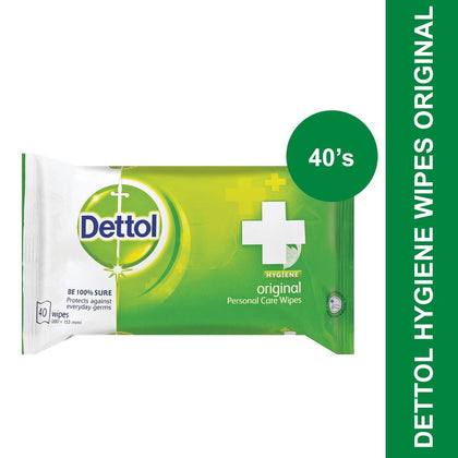 Dettol Hygiene Wipes Original-40's
